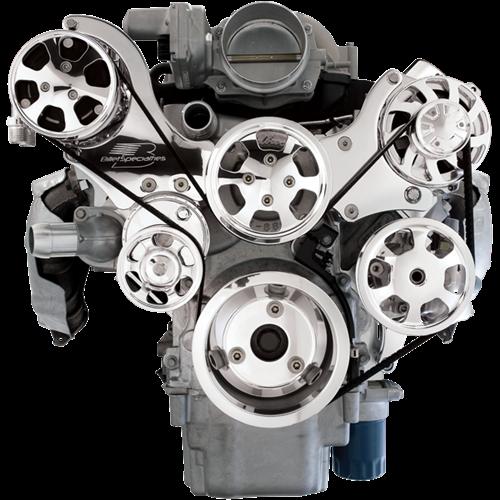 Tru Trac Serpentine System - LS7 Engine (Top Mount)