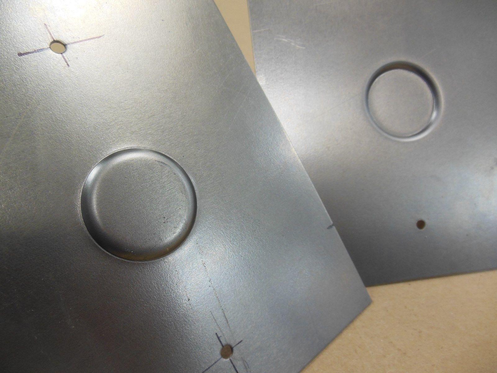 18 Gauge Stamped Recessed Key Lock Panels for 1967-1969 Camaro Door