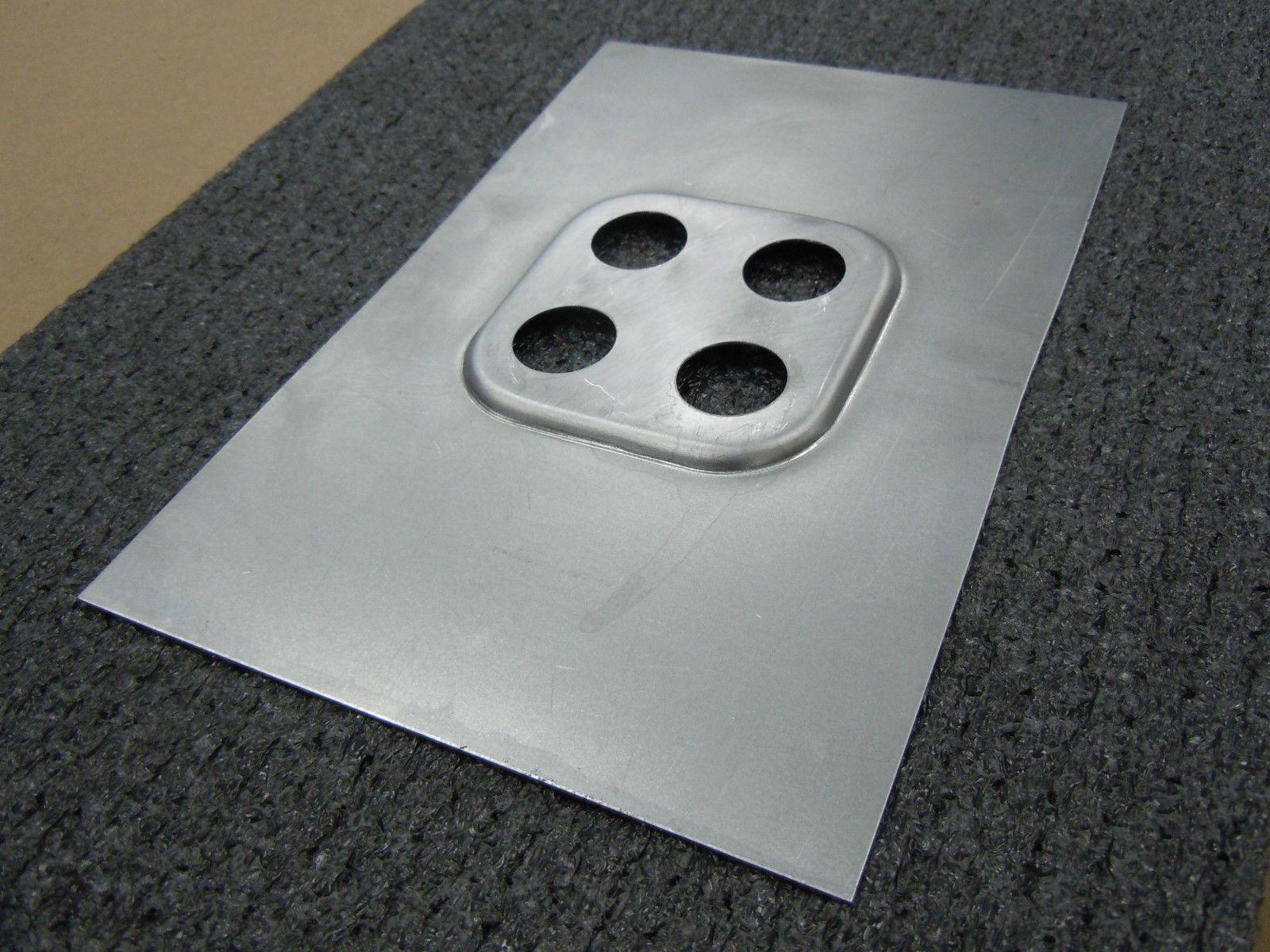 Vintage Air Bulkhead - 4 Way Square - 18 Gauge Sheet Metal Panel