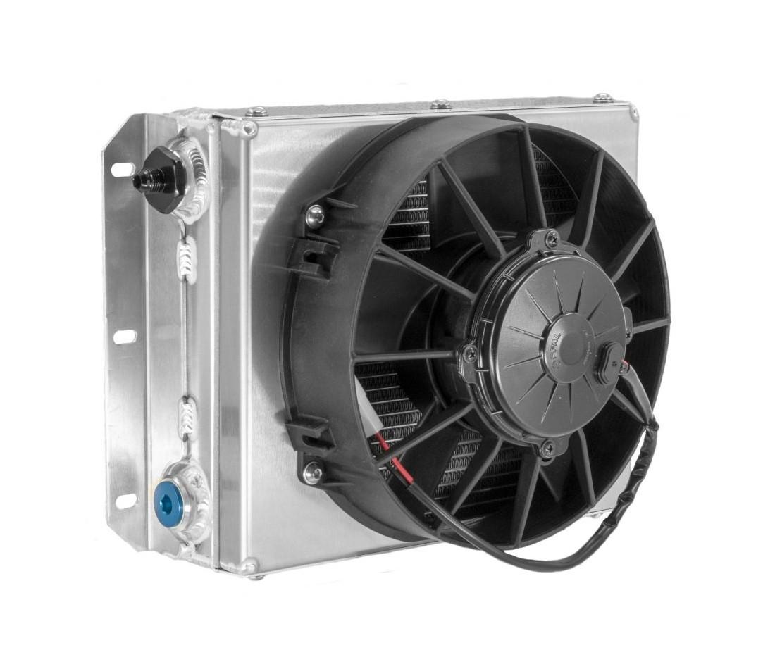 "Transmission Oil Cooler - Universal Applications - 9"" Spal Fan"