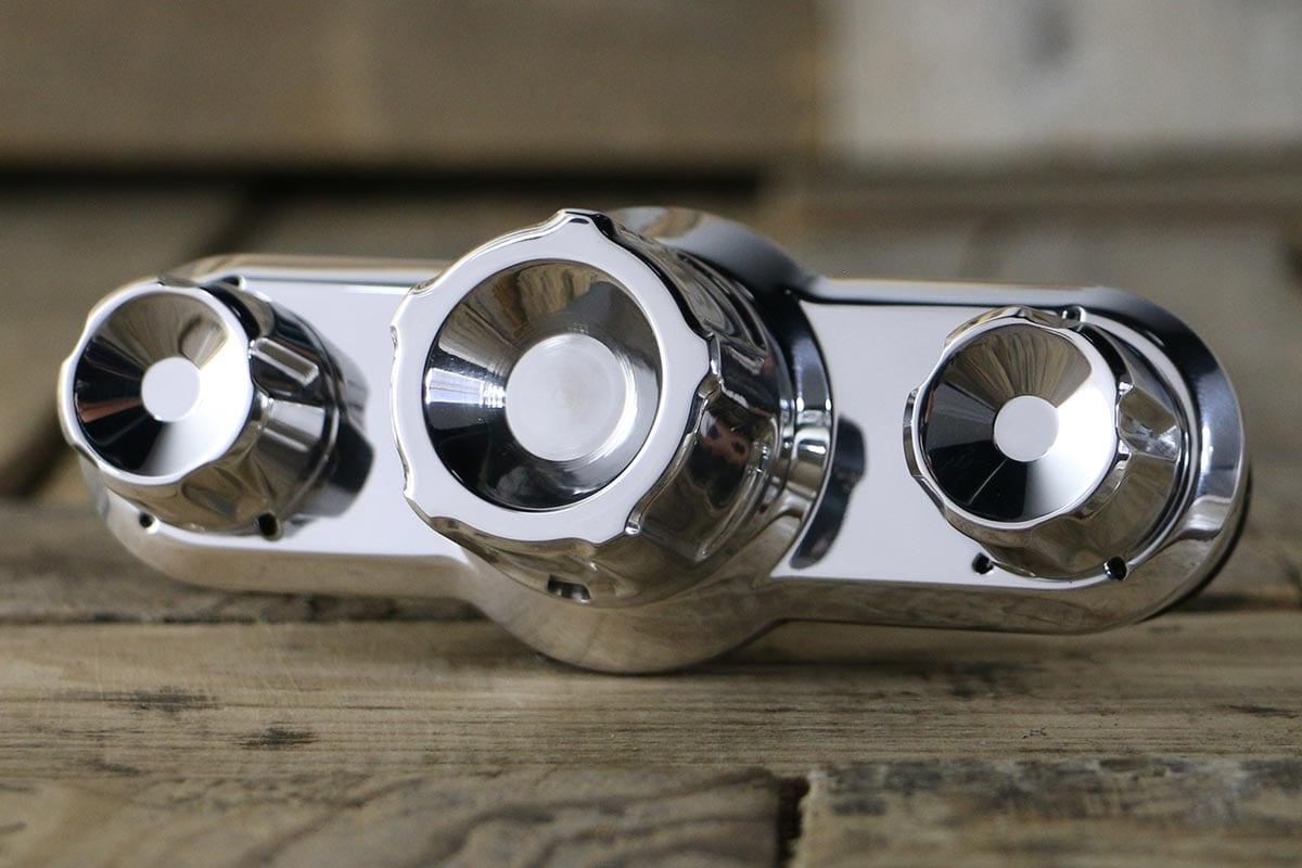 A/C Control - Billet Aluminum - Triq 3 Knob - RestoMod Air